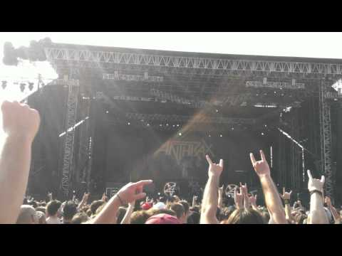 "Anthrax - ""I am The Law"" live @ Big 4 in Milan Italy 6th July 2011"