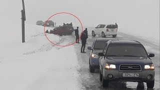 УЖАСНО СКОЛЬЗКО! ВКО Усть-Каменогорск - Катон-Карагай 11.03.2018