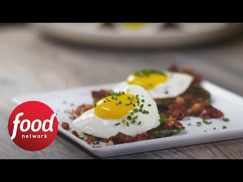 Green Pancakes and Hash | Food Network