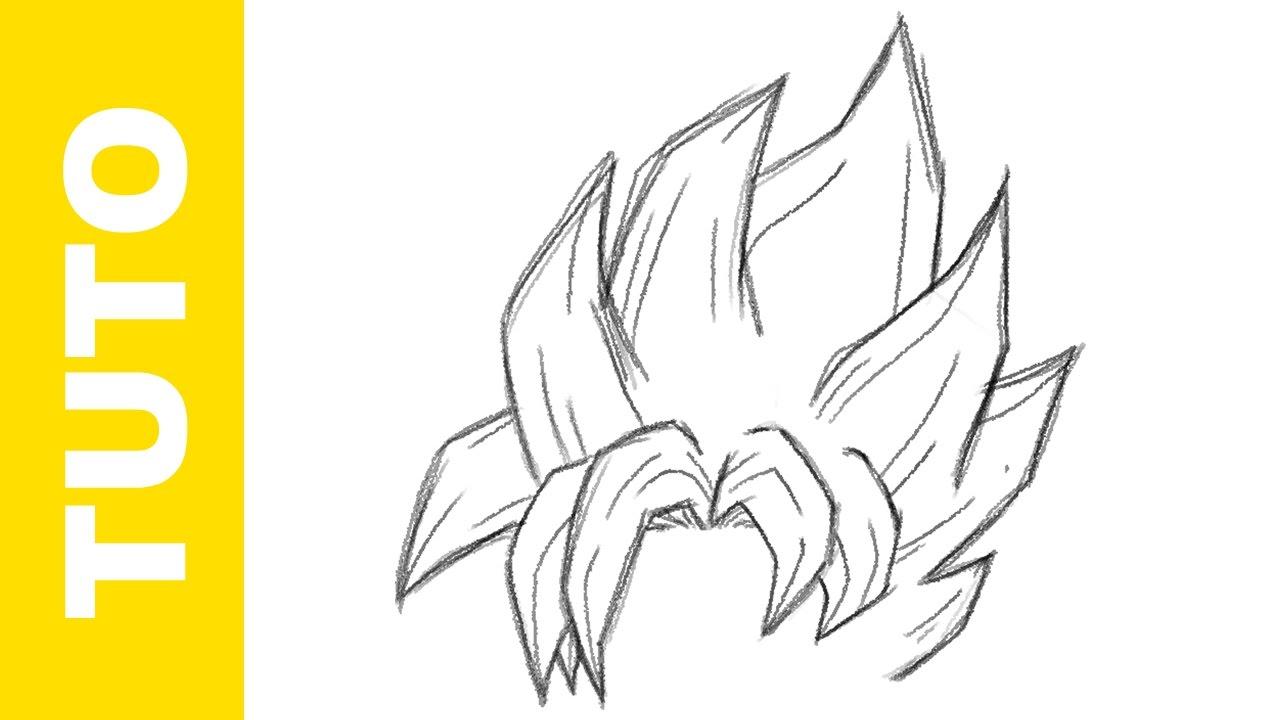How To Draw Dbz Goku's Hair Ssj