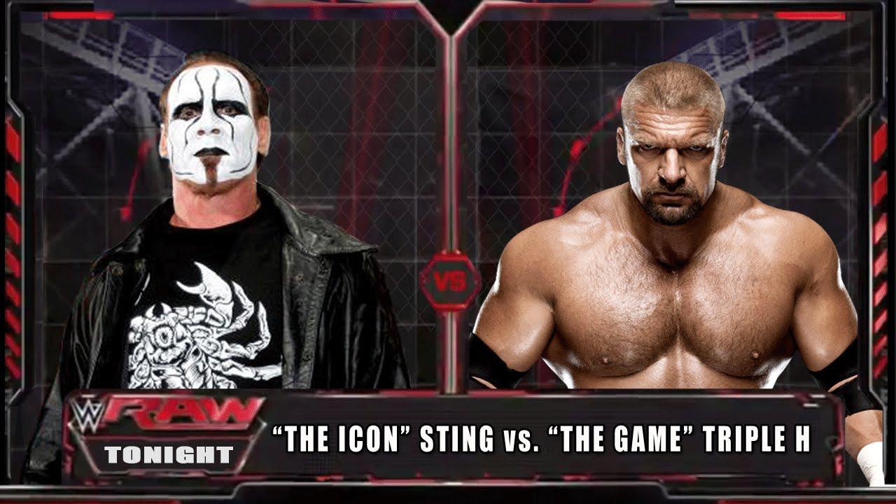 wwe raw 14 sting vs triple h wwe raw full match hd