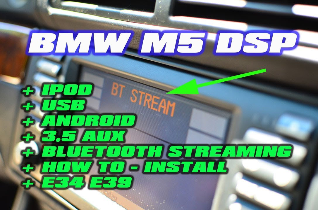 Bmw 5 Series Ipod Bluetooth Usb With Dsp Bmw M5 E34 E39 530 Gromaudio Youtube