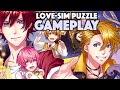 "Japanese DATE-SIM Puzzle Game ""100 PRINCES"" (YUME100) GAMEPLAY #1"