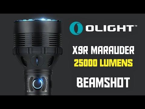 Seberapa Terang 25000 Lumens? Olight X9R Marauder Beamshot