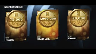 ONE MILLION COINS! 28 LARGE QUICKSELL PACK OPENING! Madden 16 Ultimate Team