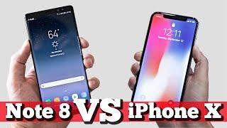 видео Сравнение характеристик Apple iPhone X с Samsung Galaxy Note 8 и LG V30