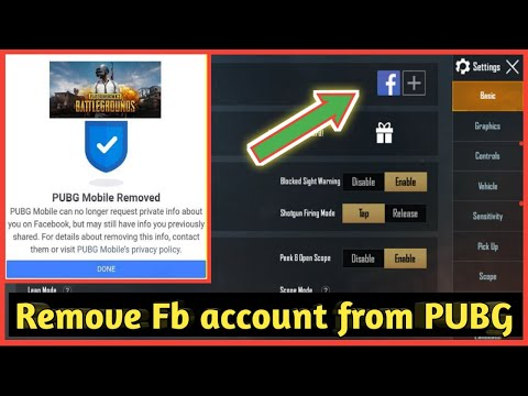 Remove FB Account From Pubg Permanently | PUBG MOBILE