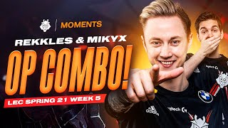 Rekkles and Mikyx OP Combo | LEC Spring 2021 Week 5 Moments