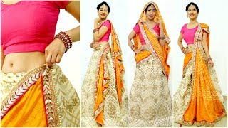 5 NEW Dupatta Draping Styles for Wedding Season - How To Wear Lehenga Perfectly | Anaysa