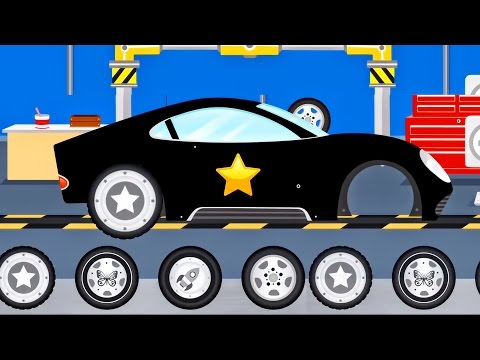 Cars Factory - Police Car, Fire Truck : Build Car, Car Driving for Kids | Best iOS Game App for Kids