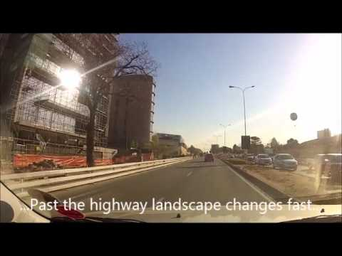 Drive from Alexandra to Sandton, Johannesburg (South Africa)