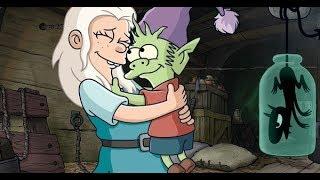 Disenchantment Easter Eggs Simpsons Futurama Disney Elfo Luci Bean Netflix Review Episodes 1 Theme
