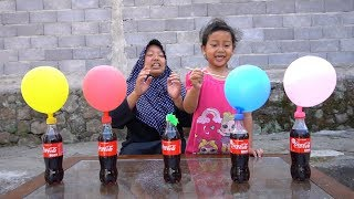 KEYSHA Belajar Warna Dengan FINGER FAMILY BALLOON SONG, Coca Cola dan Mentos DADDY FINGER