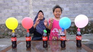 Download lagu KEYSHA Belajar Warna Dengan FINGER FAMILY BALLOON SONG, Coca Cola dan Mentos DADDY FINGER