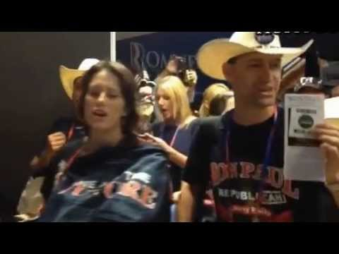 Ron Paul Supporters Loudly Protest At GOP Convention