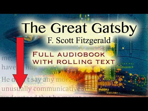 Download The Great Gatsby - full audiobook with rolling text - by F. Scott Fitzgerald