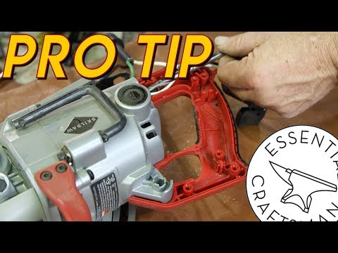 Skilsaw Cord Install and Storage Tip