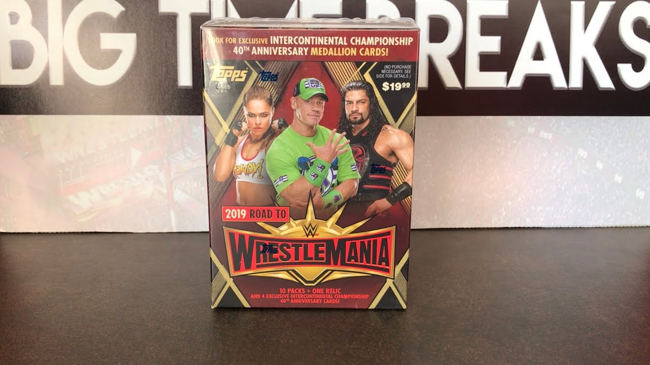 Topps WWE Road to WrestleMania 2019 Blaster Box Break - Trip to WrestleMania 35?!