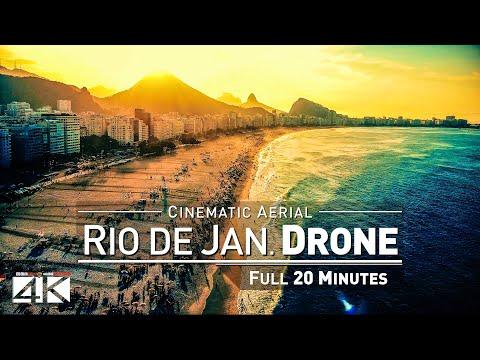 【4K】Drone Relax Travel Video | RIO DE JANEIRO in 20 Minutes ..:: Brazil 2019