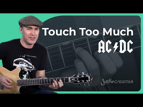 AC/DC - Touch Too Much Guitar Lesson Tutorial - Chords & Rhythm Malcolm Angus