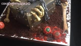 Торт для фаната фильмов ужасов
