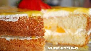GÂteau Aux Fruits Et Coulis Abricot-orange