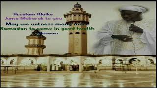 Subject, Friday Khutbah* SOURCE: *Sheikh Al Islam Imam Ba Kawsu  Fofan'a Hafidha