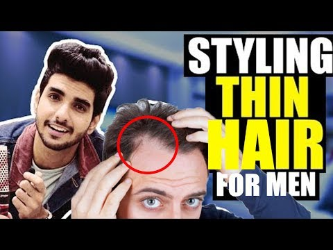HOW to STYLE THIN hair for men in INDIA | Indian men's hairstyle