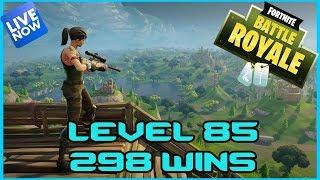 Fortnite Battle Royale - LVL 85  298 WINS - LIVE - (PS4 PRO) Full HD