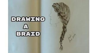 Drawing a Braid | Pencil Drawing