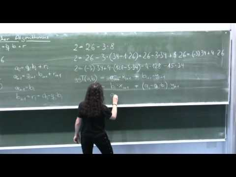 Extended Euclidean Algorithm to find the Inverse Example 1 - Part 2 from YouTube · Duration:  9 minutes 2 seconds