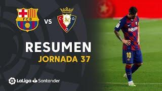Resumen de FC Barcelona vs CA Osasuna (1-2)