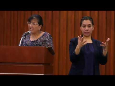 Discurso de Ombudsperson capitalina, Nashieli Ramírez, presentación de Propuesta General 01/2018