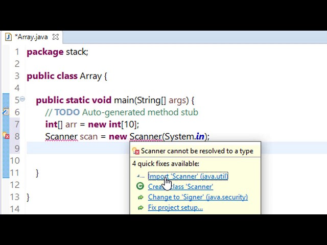 1. Arrays in java - java Data Structure