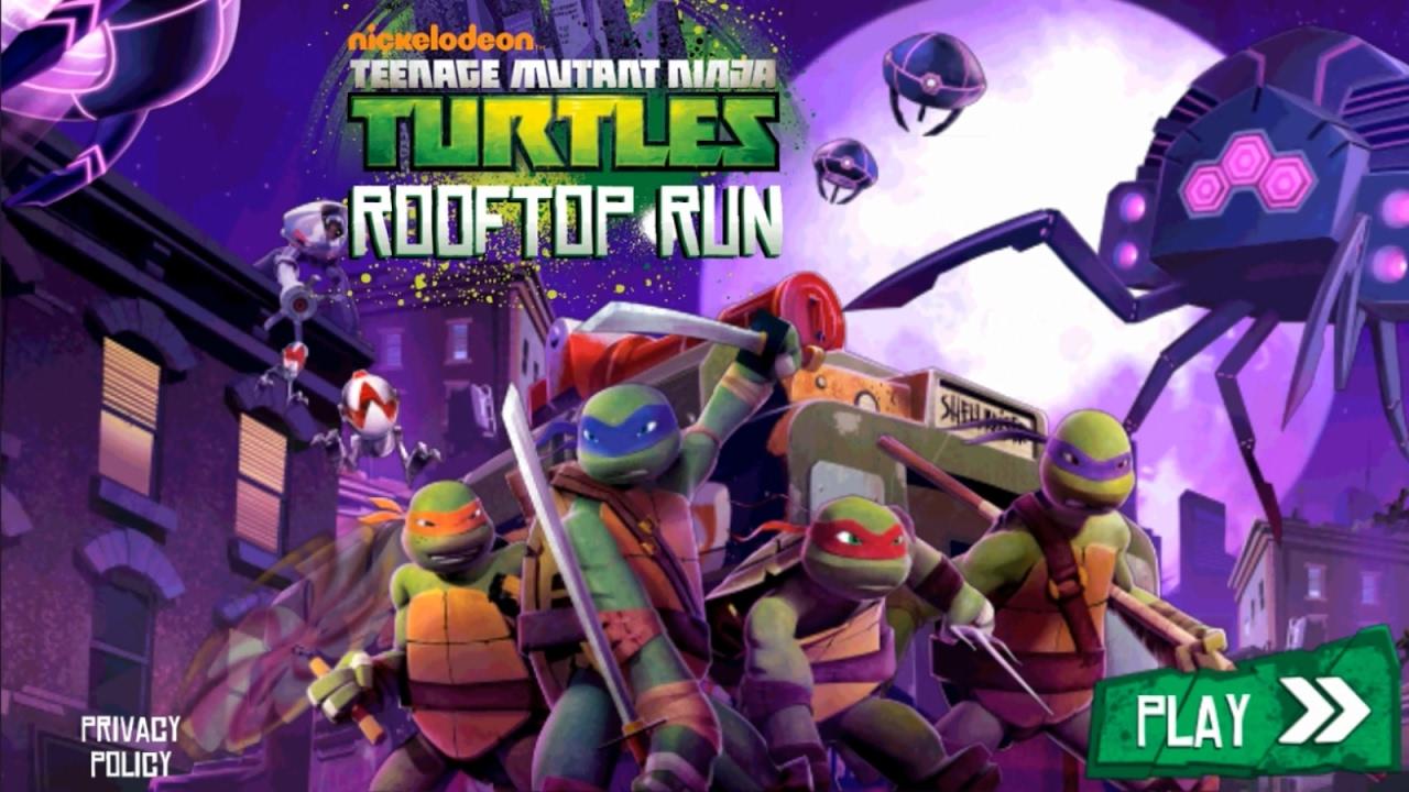 tmnt rooftop run