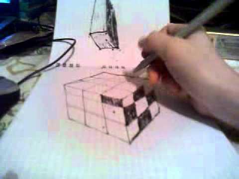 как рисовать 3Д куб.how to