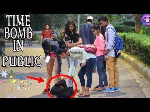 Planting Bluetooth Time Bomb In Public Prank   Unique Pranks In Kolkata 2019
