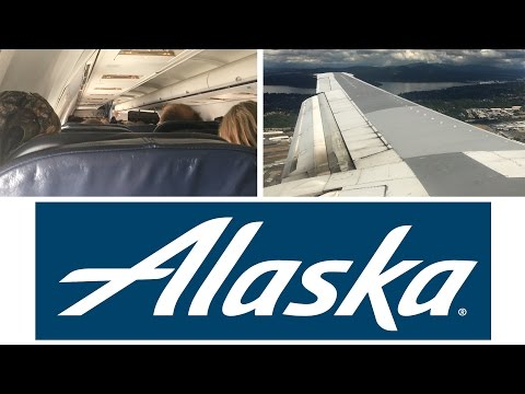 Alaska Airlines Boeing 737-400 Classic Anchorage to Seattle FULL FLIGHT
