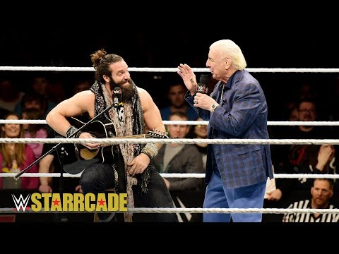 Ric Flair walks with Elias at WWE Starrcade: WWE Starrcade 2018 (WWE Network Exclusive)