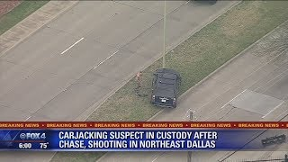 Police chase: Carjacking suspect taken into custody, hospitalized after chase in Dallas