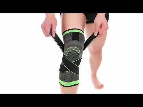 3D weaving pressurization knee brace basketball tennis hiking cycling knee support