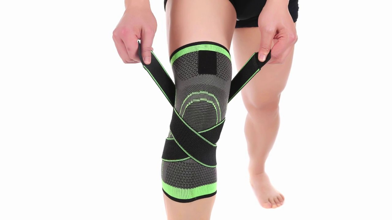 5779caa593 3D weaving pressurization knee brace basketball tennis hiking cycling knee  support