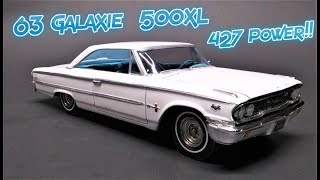1963 Ford Galaxie 500 XL 427 3n1 Custom 1/25 Scale Model Kit Build Review AMT1186 AMT