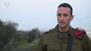 סינק של מפקד פיקוד דרום אלוף הרצי הלוי בעקבות ההסלמה בדרום