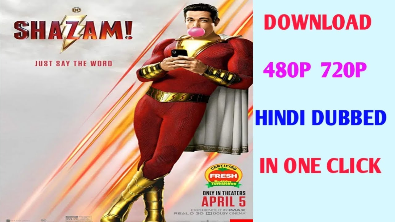 Download Shazam 2019 Movie In Hindi full HD 480p 720p Blurry download in one click