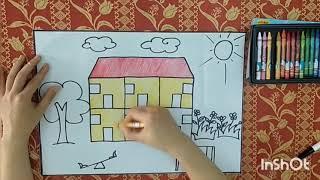 Vẽ Trường mầm non