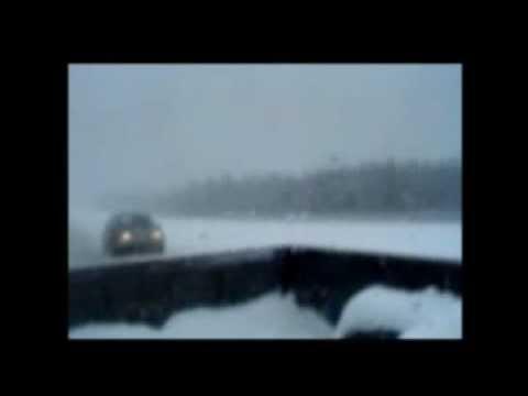 Les routes du Québec - En pleine tempête sur l'autoroute 73