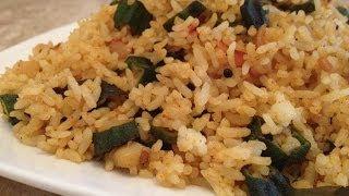 Okra Recipes - Bhindi Pulao - Okra Fried Rice - Indian Vegetarian Recipes