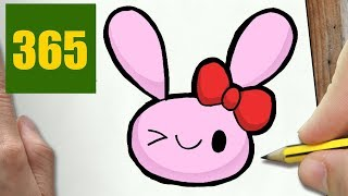 HOW TO DRAW A RABBIT CUTE, Easy step by step drawing lessons for kids