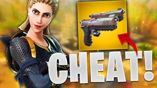 THE NEW WEAPON TOO CHEAT!!! (FORTNITE BATTLE ROYAL GAMEPLAY)